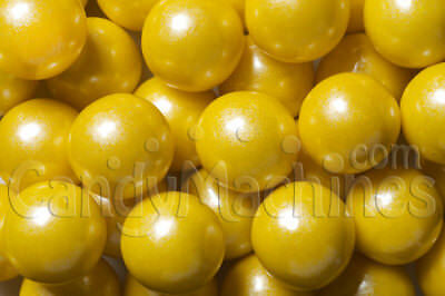 Pearl Yellow Gumballs 2lb FRESH Oak Leaf 120ct yellow