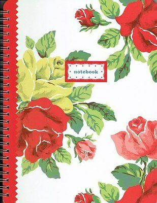 Cath Kidston Royal Rose Hardback Ringbound Notebook NEW