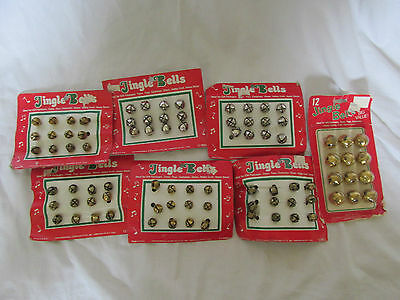 New Christmas Lot 7 Packs Of Vintage Jingle Bells Criterion Bell & Specialty Co.