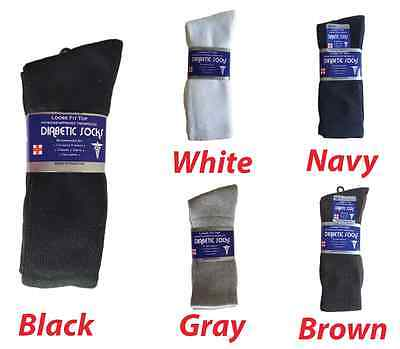 Diabetic CREW circulatory Socks Health Men's  Cotton ALL SIZE