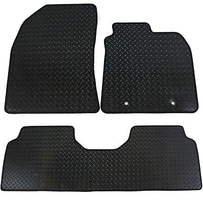 Toyota Avensis MKIII 2009-2011 Fully Tailored 3 Piece Rubber Car Mat Set 2 Clips