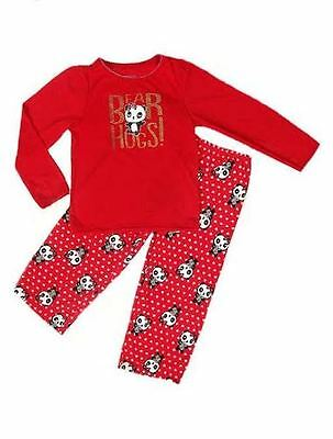 OshKosh girls red panda bear Pyjamas  12 18 24 Months 2 3 4 5 6  8 10 YRS NEW!