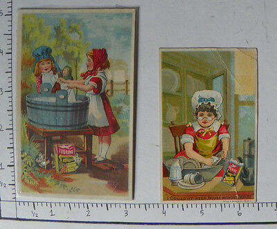 2 Ivorine The Wonderful Cleaner Girls Laundry Doll House C Adv 0511A