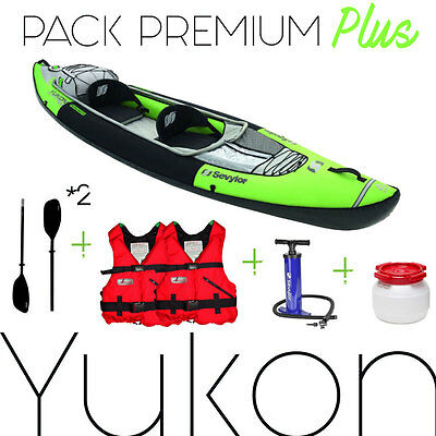 Pack kayak YUKON SEVYLOR, 2 pagaies démontables, pompe HP, 2 gilets etc .