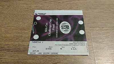 Leeds v Wigan 1995 Challenge Cup Final Used Rugby League Ticket