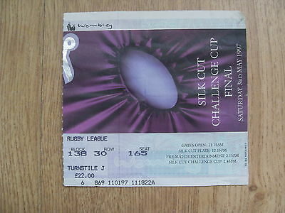 Bradford v St Helens 1997 Challenge Cup Final Used Rugby League Ticket