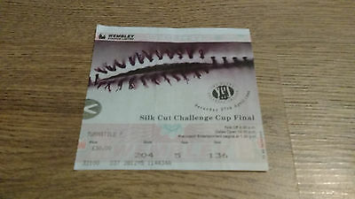 Bradford v St Helens 1996 Challenge Cup Final Used Rugby League Ticket
