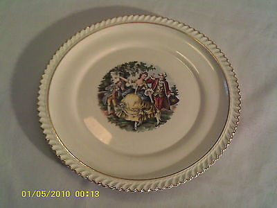 The Harker Pottery Co. Godey Courtship Dinner Plate