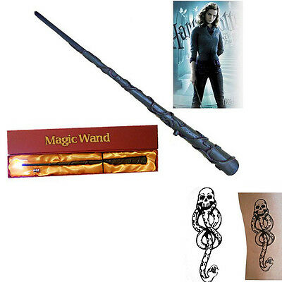 New Harry Potter Hermione Granger Magic Wand Led Light Up Xmas Gift free Tattoo