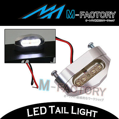 Billet Silver 12V LED Tail Tidy License Plate Light Replacement For Motorcycles