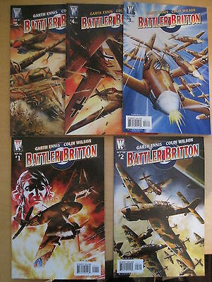 BATTLER BRITTON : COMPLETE 5 ISSUE SERIES by GARTH ENNIS & WILSON.WILDSTORM.2006