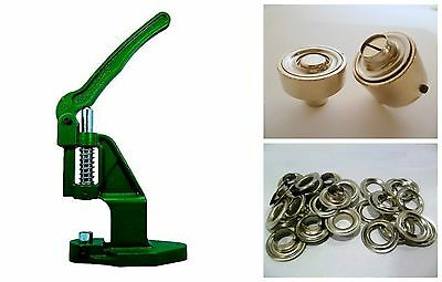 Eyelet press + 100 12mm silver rust-free + Tool DIN 7332 f. Banner, Plans