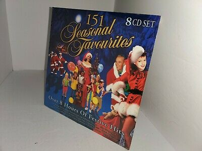 New Factory Sealed Seasonal Favorites 151 Classic Christmas Songs 8 Cd Set