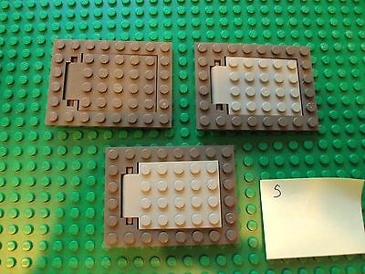 Lego ~ Mixed Lot Of 3 Hinged Trap Doors / Castle Parts Harry Potter #sxrt