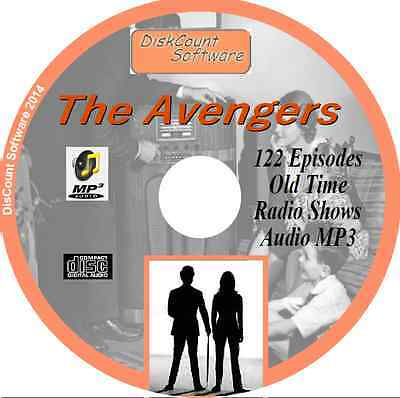 The Avengers - 122 Old Time Radio Shows - Audio MP3 CD OTR