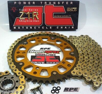 HONDA RC51 2000-2006 JT GOLD 520 SUPERSPROX CHAIN & SPROCKETS KIT *OEM or Q.A.