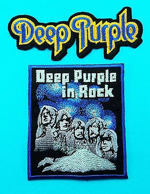 2 Lot DEEP PURPLE Heavy Metal Music Band Applique Embroidered Iron On Patch Logo