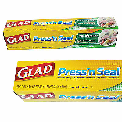 Glad Press'n Seal Food Wrap Storage Hand Sealer Multi-Purpose Magic Wrap 1 Pack