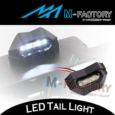 Billet Black 12V LED Tail Tidy License Plate Light Replacement For Motorcycles