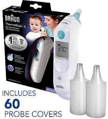 NEW Braun ThermoScan 5 IRT6020 Baby Digital Ear Thermometer with 60 Probe Covers
