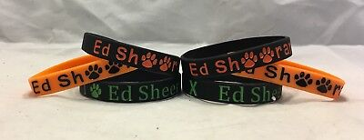 ED SHEERAN Silicone Wristband Bracelet Orange Black