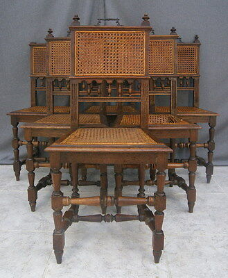 2915  !!!REFINED FRENCH XIX CENTURY  SET OF 6 CHAIRS IN VICTORIAN  STYLE !!!