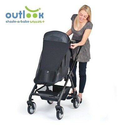 Universal Black UV Pram Shade Ultimate shade-a-babe - Snooze  Single Outlook New