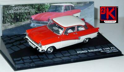 Ford Taunus 17M P2 Delux Coupe Red 1957-1959 - 1/43 Scale New In Case - 1st Post
