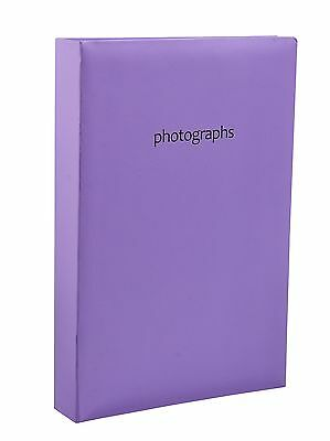 Large Purple Memo Slip In Photo Album 300 6 x 4 Photos Organise Storage - SM3PE