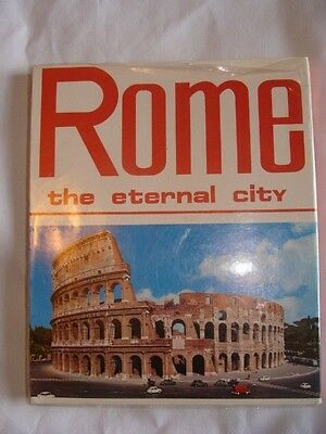 VINTAGE ROME BOOK THE ETERNAL CITY COPYWRIGHT 1972 BEAUTIFUL PICTURES TRAVEL