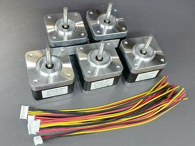 💥5 Nema 17 Minebea Stepper Motors 64oz RepRap Makerbot Prusa 3D Printer Arduino