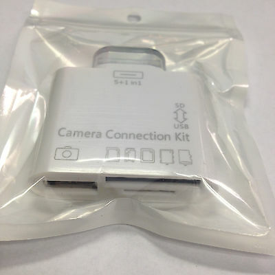 5in1 USB Camera Connection Kit Card Reader SD HC MS MMC M2 TF for iPad 1 2 3