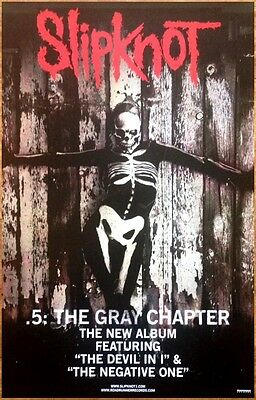 SLIPKNOT .5: The Gray Chapter Ltd Ed New RARE Poster +FREE Metal/Rock Poster!