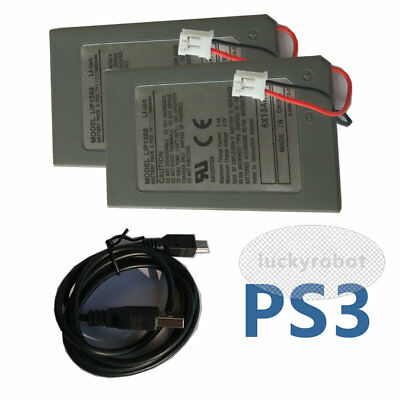 2X Replacement Battery for Sony PlayStation PS3 Six Axis DualShock 3 Controller