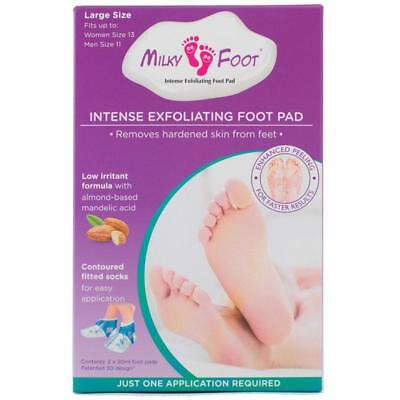ツ Best Price! Milky Foot Intense Exfoliating Pad Large Size 13 Women & 11 Men