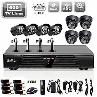 8CH Channel HDMI CCTV DVR Home Video Audio Outdoor Indoor Security Camera System