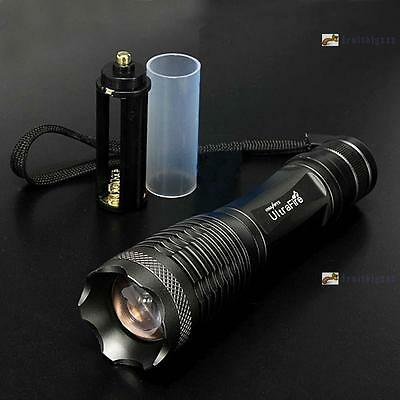 8000LM CREE XML T6 LED Zoomable Flashlight Torch Lamp Light 18650/AAA Camping FB