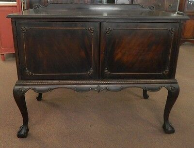 antique mahogany ball and claw server small buffet