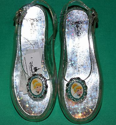 Disney Princess Cinderella Slippers Costume Shoes Girls Size 11/12 Shoes New