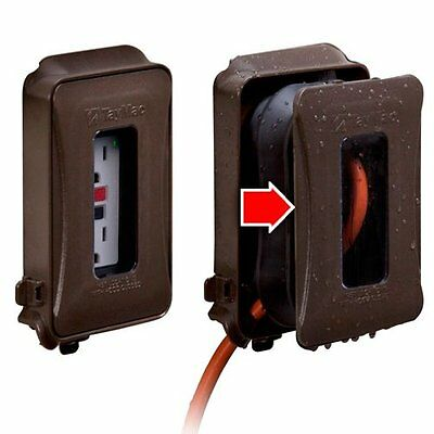 (2) Hubbell ML450Z Weatherproof Expandable Flat In-Use Plastic Outlet Cover