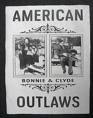 """(794L)GANGSTER BONNIE & CLYDE AMERICAN OUTLAWS BANK CRIME NOVELTY POSTER 11""""x14"""""""
