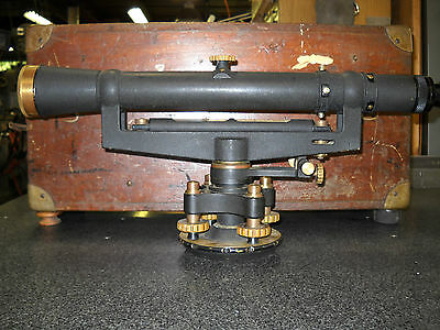 Vintage David White Co. Engineers Dumpy Level Surveying Transit w/ Box