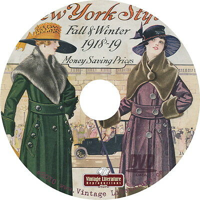 1918 New York Styles { Vintage Color Images } Fashion Catalog on DVD