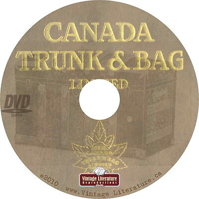 Canada Trunk, Luggage Suit Case Catalog { Circa 1900's Vintage Travel } on DVD