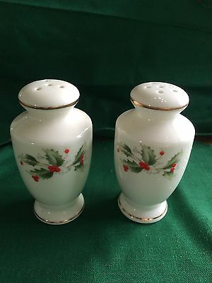 All The Trimmings Holly Fine China Salt and Pepper Shaker