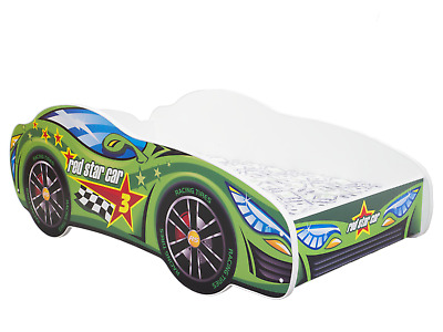 Childrens Bed Toddler Kids With Mattress !!!  Racing Car Bed!!! +++Shelf!!!