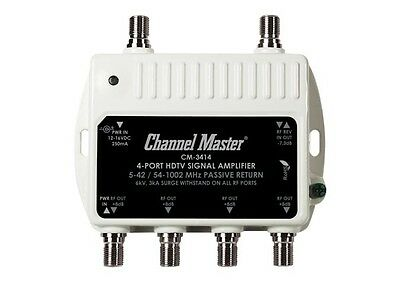 Channel Master CM-3414 4 output distribution amplifier