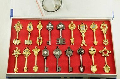 Fairy Tail New Collection Set of 18 Golden Zodiac Keys