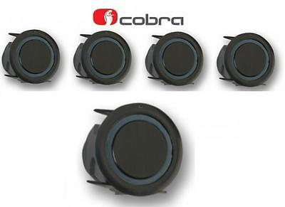 Cobra R0294S 4 Way Car Rear Parking Sensor Kit 22mm slim fit black