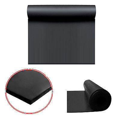BLACK RUBBER Commercial Grade Sheet Garage Flooring Matting Rolls 1.4 M WIDE